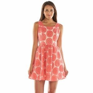 LC Lauren Conrad Floral Lace Fit & Flare Dress - 8